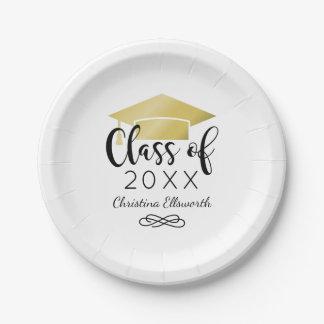 2017 Graduation Plates   Gold Grad Cap