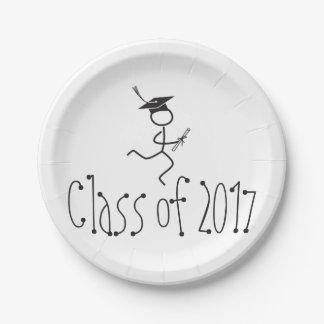 2017 Graduation Runner © Running Grad Party Supply 7 Inch Paper Plate