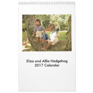 2017 Hedgehog Doll Calendar