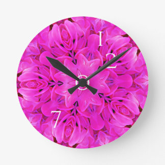 2017 Kaleidoscope Mandala Flower Pink Funny Wallclock