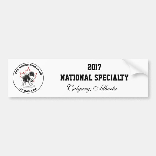 2017 KCC National Specialty Bumper Sticker