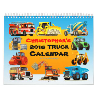 2017 Kids Custom Construction Truck Calendar