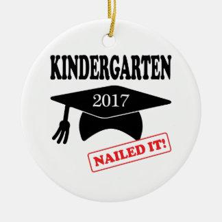 2017 Kindergarten Nailed It Ceramic Ornament