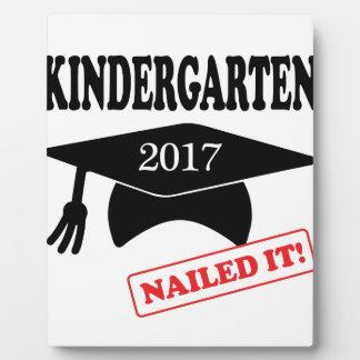 2017 Kindergarten Nailed It Plaque