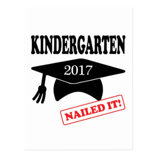 2017 Kindergarten Nailed It Postcard