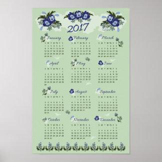 2017 Larkspur Wall Calendar Poster
