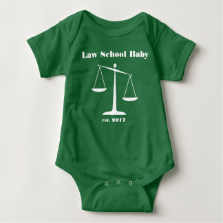 2017 Law School Baby Romper (White Ink)