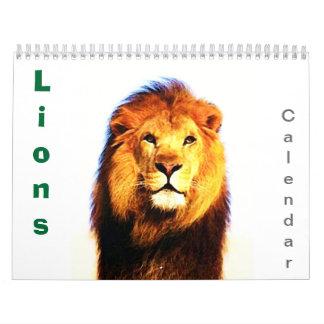 2017 Lions Wall Calendar - Wild Animals & Big Cats