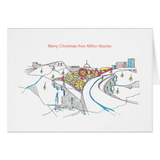 2017 Milton Keynes Christmas Card by Robert Rusin