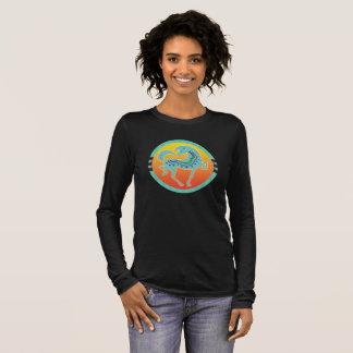 2017 Mink Mode Runequine Checkers ladies sleeve 1 Long Sleeve T-Shirt