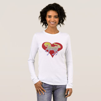 2017 Mink Mode Runequine Heart ladies sleeve 2 Long Sleeve T-Shirt
