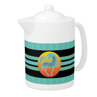 2017 Mink Mug Runequine Checkers Large Teapot