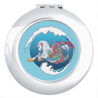 2017 Mink Nest Hippicorn Compact Mirror Ocean