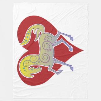 2017 Mink Nest Runequine Heart Fleece Blanket 2