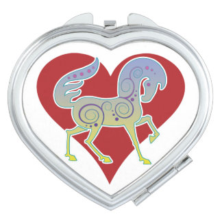 2017 Mink Style Runequine Heart Compact Mirror 1