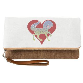 2017 Mink Tote Runequine Heart clutch 1