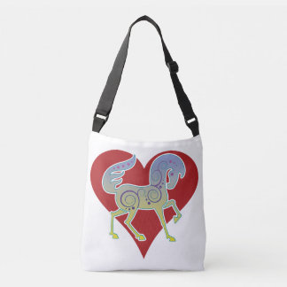 2017 Mink Tote Runequine Heart Crossbody Bag