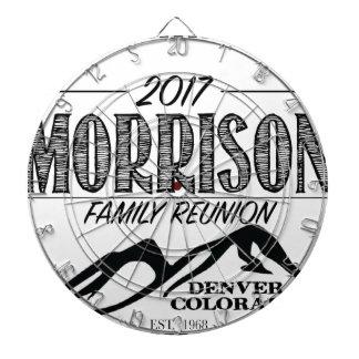 2017 Morrison Reunion Items - LIGHT background Dartboard