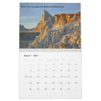 2017 National Park Landscapes Calendar