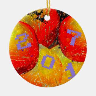 2017 New Year. Ceramic Ornament