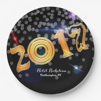 2017 New Year's Eve Celebration 9 Inch Paper Plate