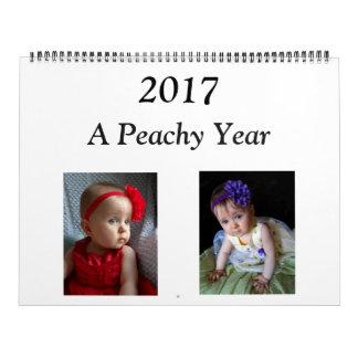2017 Peachy Calendar