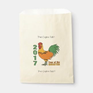 2017 Rooster custom favor bags
