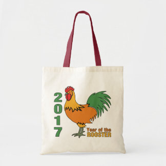 2017 Rooster tote bags