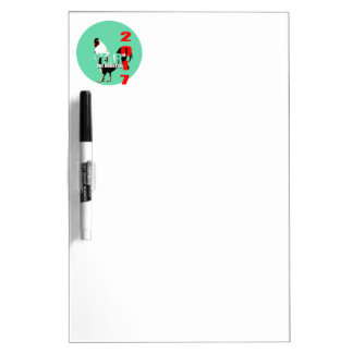 2017 Rooster Year in Green Circle D E board Dry-Erase Whiteboards