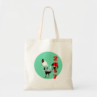 2017 Rooster Year in Green Circle Tote bag