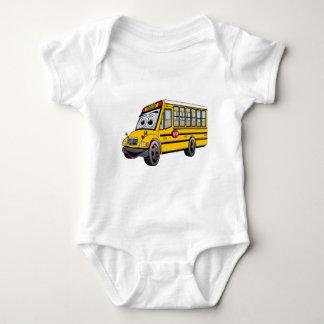2017 School Bus Cartoon Baby Bodysuit