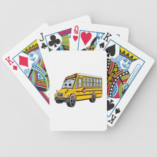 2017 School Bus Cartoon Bicycle Playing Cards