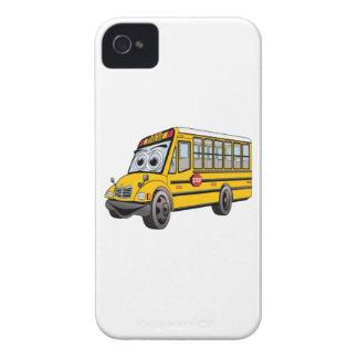 2017 School Bus Cartoon iPhone 4 Case-Mate Cases