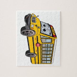 2017 School Bus Cartoon Jigsaw Puzzle