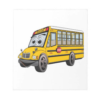 2017 School Bus Cartoon Notepad
