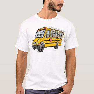 2017 School Bus Cartoon T-Shirt