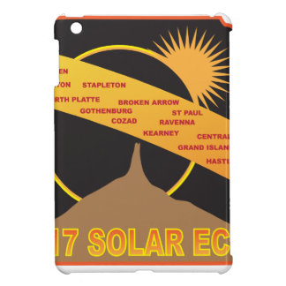 2017 Solar Eclipse Across Nebraska Cities Map Cover For The iPad Mini