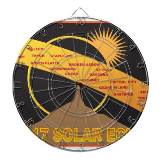 2017 Solar Eclipse Across Nebraska Cities Map Dartboard