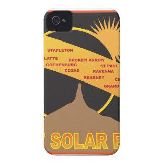 2017 Solar Eclipse Across Nebraska Cities Map iPhone 4 Case-Mate Case