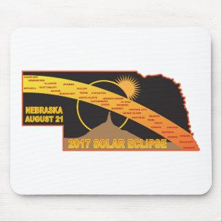 2017 Solar Eclipse Across Nebraska Cities Map Mouse Pad