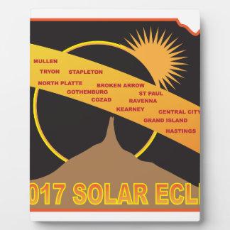 2017 Solar Eclipse Across Nebraska Cities Map Plaque