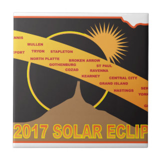 2017 Solar Eclipse Across Nebraska Cities Map Tile