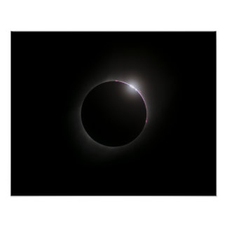 2017 Solar Eclipse - Bailey's Beads Poster
