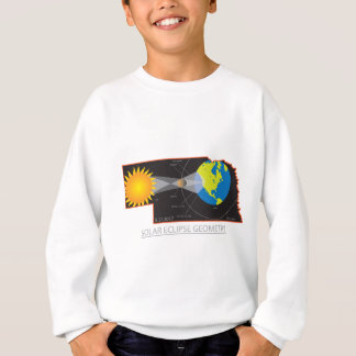 2017 Solar Eclipse Geometry Across Nebraska Cities Sweatshirt