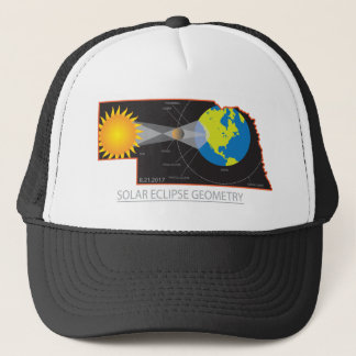 2017 Solar Eclipse Geometry Across Nebraska Cities Trucker Hat