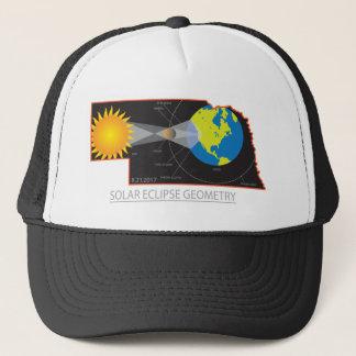2017 Solar Eclipse Geometry Across Nebraska Cities Trucker Hat
