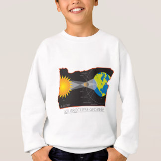 2017 Solar Eclipse Geometry Across Oregon Cities Sweatshirt