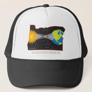 2017 Solar Eclipse Geometry Across Oregon Cities Trucker Hat
