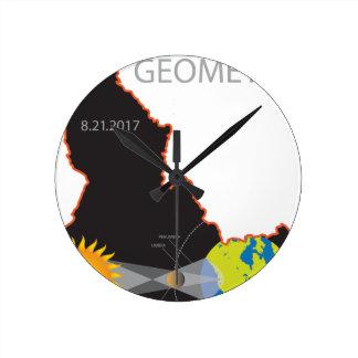 2017 Solar Eclipse Geometry Idaho State Map Wallclock