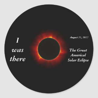 "2017 Solar Eclipse ""I was there"" edition Classic Round Sticker"